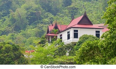 Villa on the mountain among the tropical trees Thailand,...