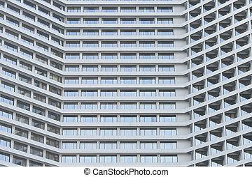 Hotel tower riverside in Bangkok Thailand