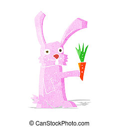 cartoon rabbit with carrot
