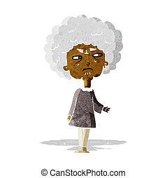 cartoon old lady