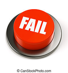 Fail Button - A red button with the word FAIL on a white...