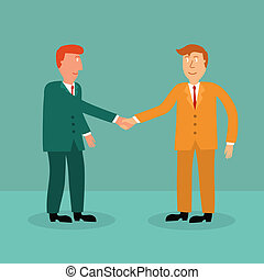 two business man shaking hand,business...