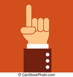 business man hand pointing up,illustration,vector