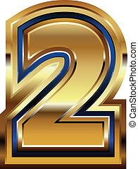 Golden Font Number 2