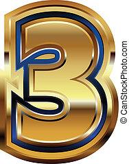 Golden Font Number 3