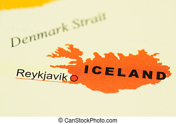 Iceland on map