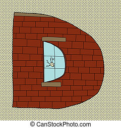 Letter D with Window