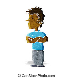 cartoon man refusing to listen
