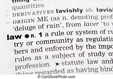 Dictionary definition of law