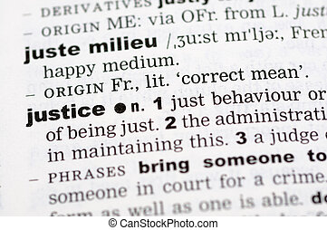 Dictionary definition of justice