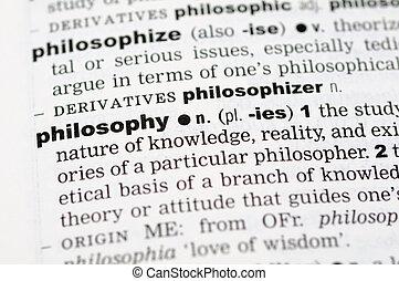 definición, filosofía, diccionario