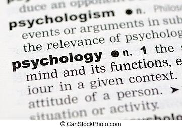 definición, psicología, diccionario