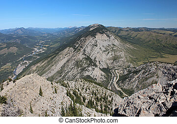 Livingstone Range Gap - A view from atop of the Livingstone...