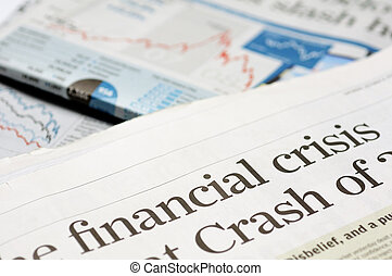 Financial crisis headlines - Newspaper headlines - financial...