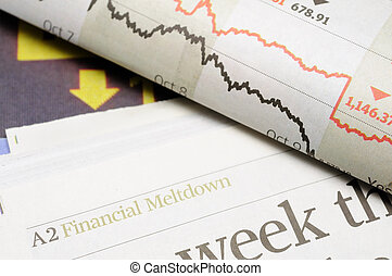 Financial meltdown headlines - Newspaper headlines -...