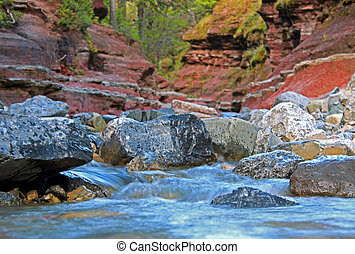 Red Rock Canyon - a look at red rock canyon in Waterton...
