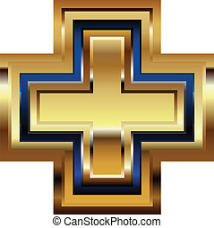 Golden Cross Symbol