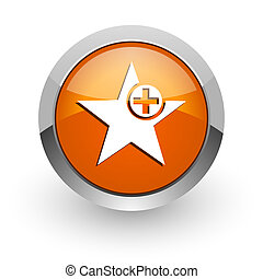 star orange glossy web icon - orange glossy web icon