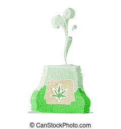 cartoon bag of weed
