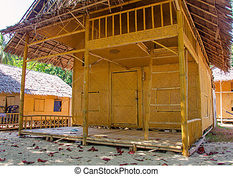 bungalow Straw hut on beach