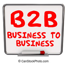 B2B Business Words Dry Erase Board Information Advice