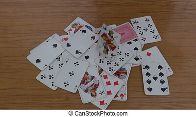 playing cards on table - various playing cards on table