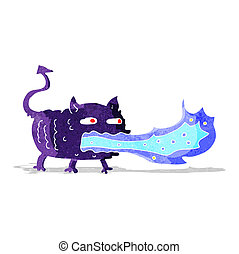 cartoon fire breathing imp