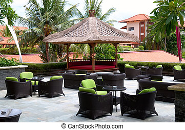Outdoor coffee bar - The outdoor coffee bar at resort