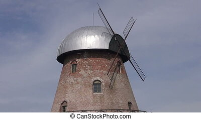 old windmill on hill