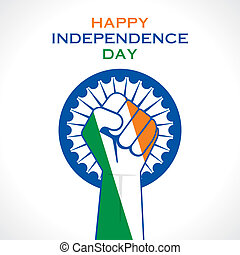 illustration of hand fist in Indian tricolor concept vector...