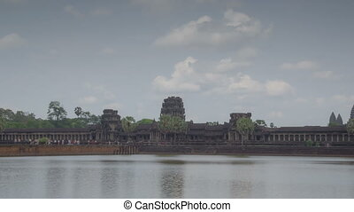 Angkor Wat temple zoom timelapse 1 - Angkor temples complex...
