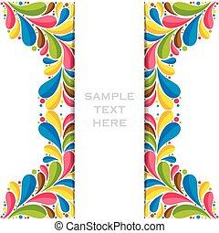 colorful flora banner design