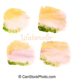 Watercolor art hand paint on white. EPS 10 - Watercolor art...