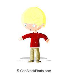 cartoon confused boy
