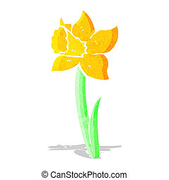 cartoon daffodil