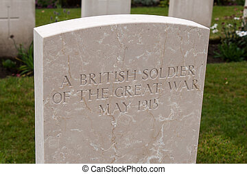 A British soldier of the great world war one