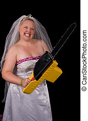 Dont Mess With The Bride - Angry Bride (Bridezilla) using a...