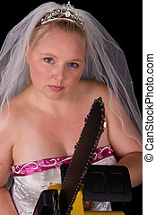 Dont Mess With The Bride - Angry Bride Bridezilla using a...