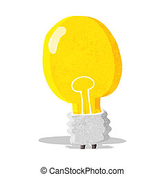 cartoon electric light bulb