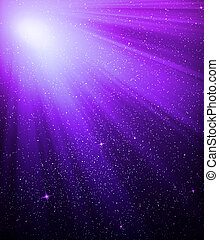 The color star sky with, background