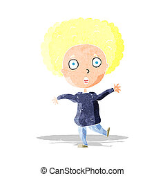 cartoon startled person