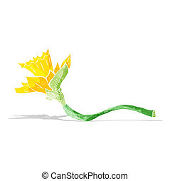 cartoon daffodil flower
