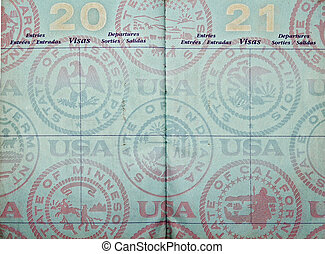 passport - blank usa passport  pages