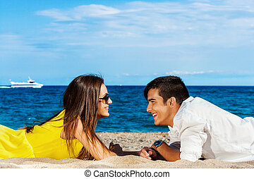 Young couple enjoying a holiday