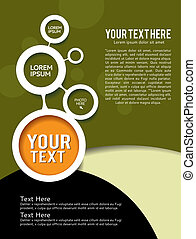 Brochure Design - Background with bubbles - brochure design...
