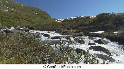 4K, Norway, View On A Stream - Nature Of Norway, Landscapes,...