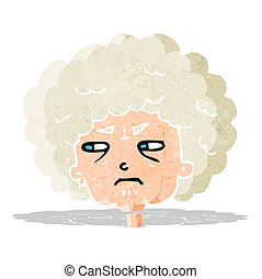 cartoon bitter old woman