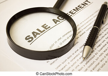 Sale Agreement,For Real Estate Concept Background