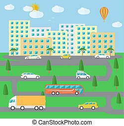City town landscape life