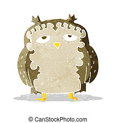 cartoon wise old owl